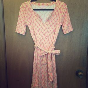 Lilly Pulitzer Pink and Orange Houndstooth Dress